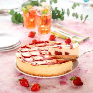 Cheesecake fraises chocolat blanc
